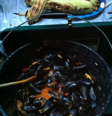 coleman stove mussels