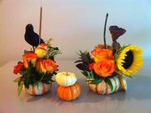 thanksgiving pumpkin arrangement