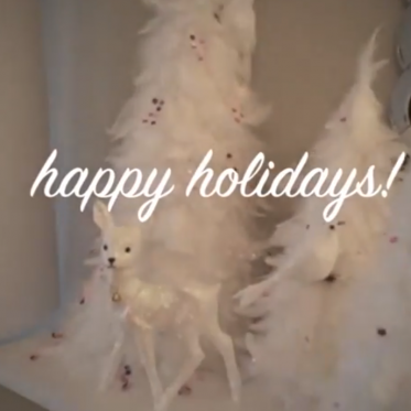 how to make a feather christmas tree decoration