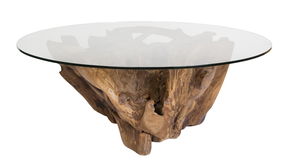 Natura Round Root Coffee Table Condo Size Meme Brooks Design